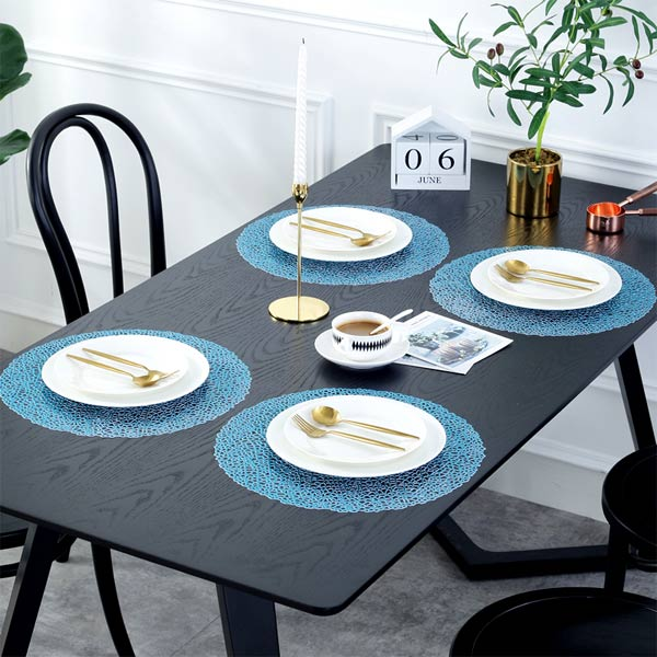 WANTU JH8003 BLUE Vinyl Placemat
