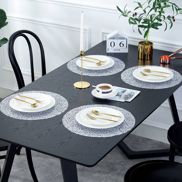 JH8003 WHITE Vinyl Placemat