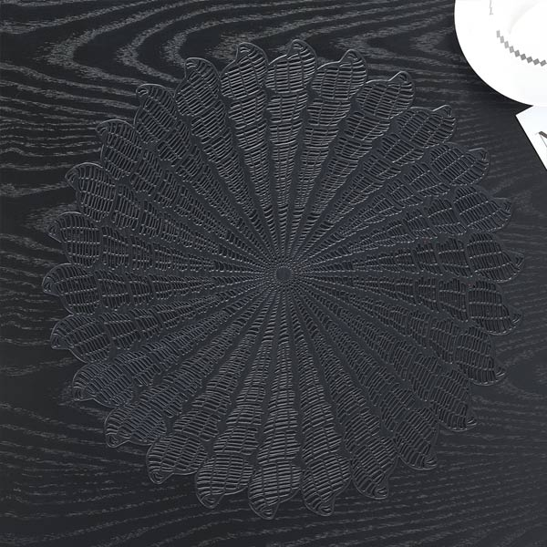 WANTU JH8008 BLACK Vinyl Placemat