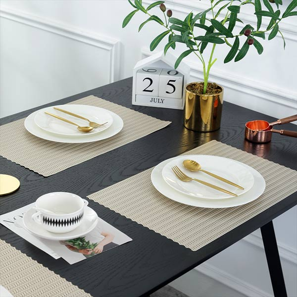 WANTU JH8005 LIGHT GOLD Vinyl Placemat