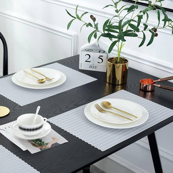 WANTU JH8005 WHITE Vinyl Placemat