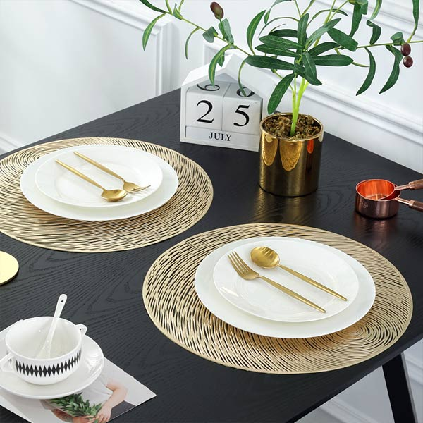 WANTU JH8006 GOLD Vinyl Placemat