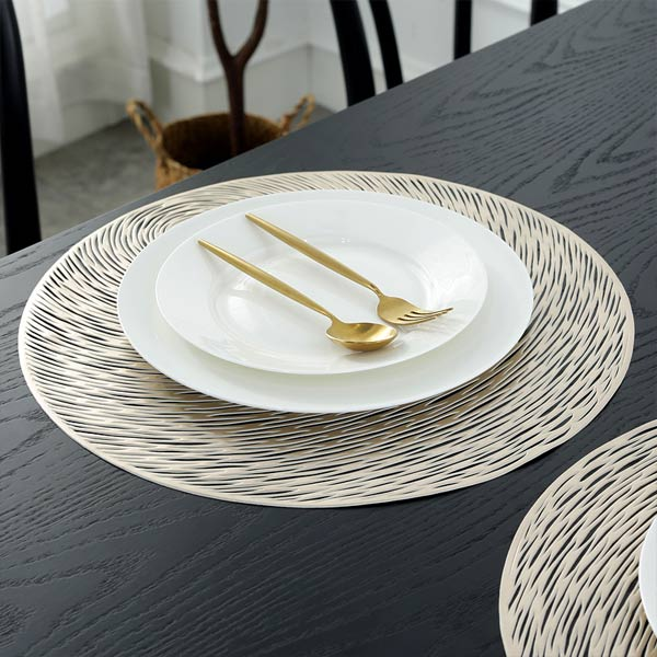 WANTU JH8006 LIGHT GOLD Vinyl Placemat
