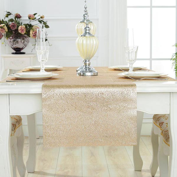 WANTU PVC GOLD Table Runner LS1420