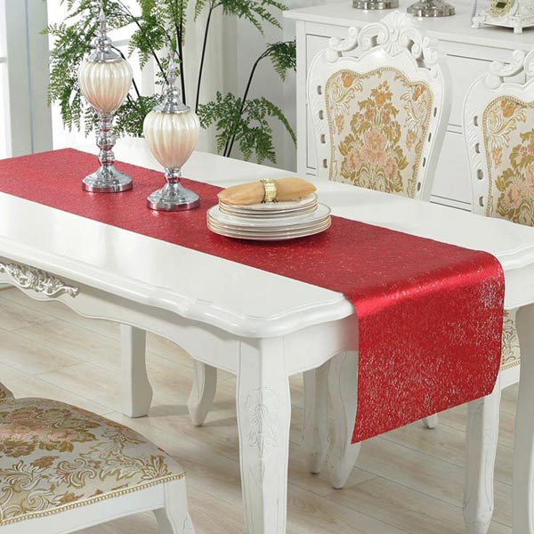 WANTU PVC RED Table Runner LS1420