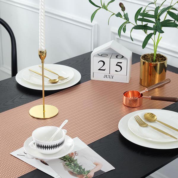 WANTU PVC ROSE GOLD Table Runner TR1420